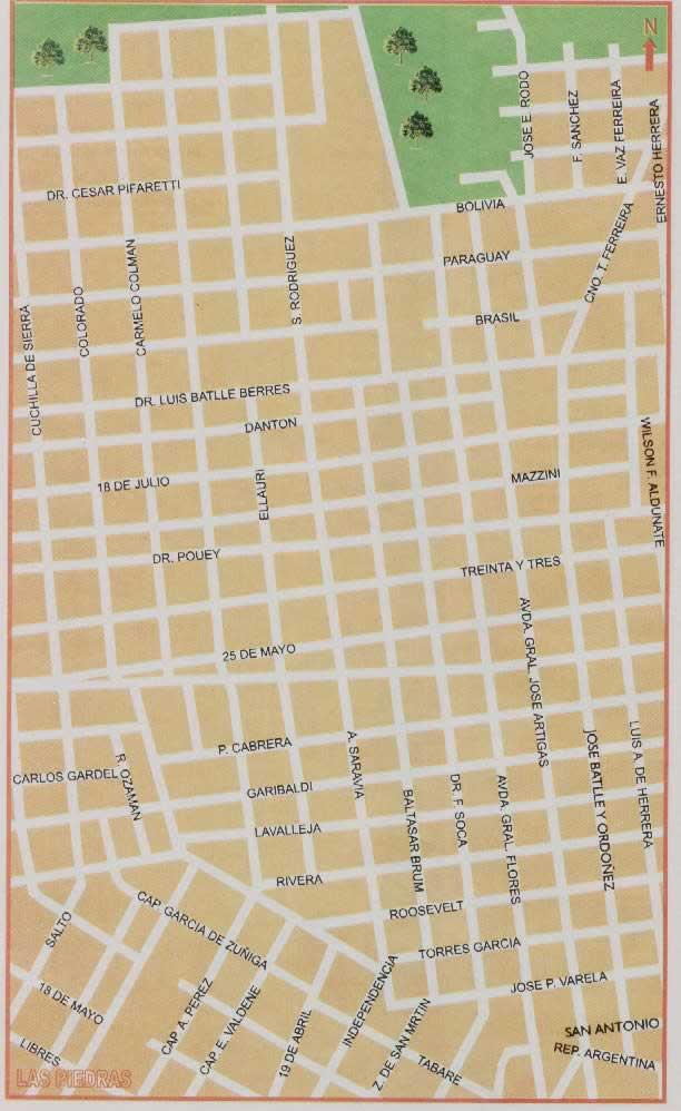Mapa de Las Piedras